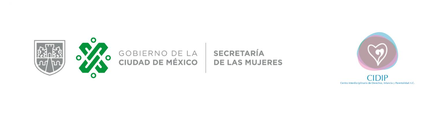 logos secretaria de mujeres y CIDIP